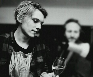 Jamie Campbell Bower and black and white image