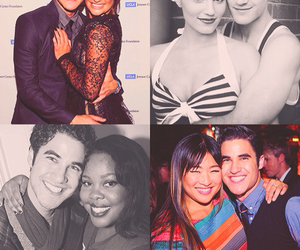 lea michele, amber riley, and dianna agron image