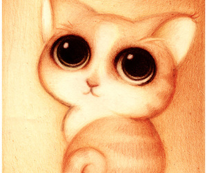 cat, drawing, and animal image