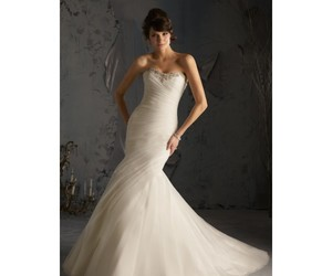 bridal, bridal gown, and mermaid image