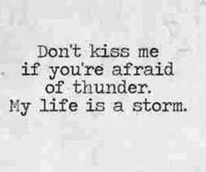 quote, storm, and love image