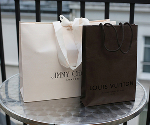 Jimmy Choo, Louis Vuitton, and shopping image