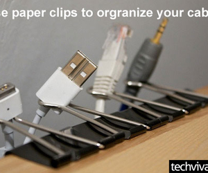 cables, paper clips, and lifehacks image