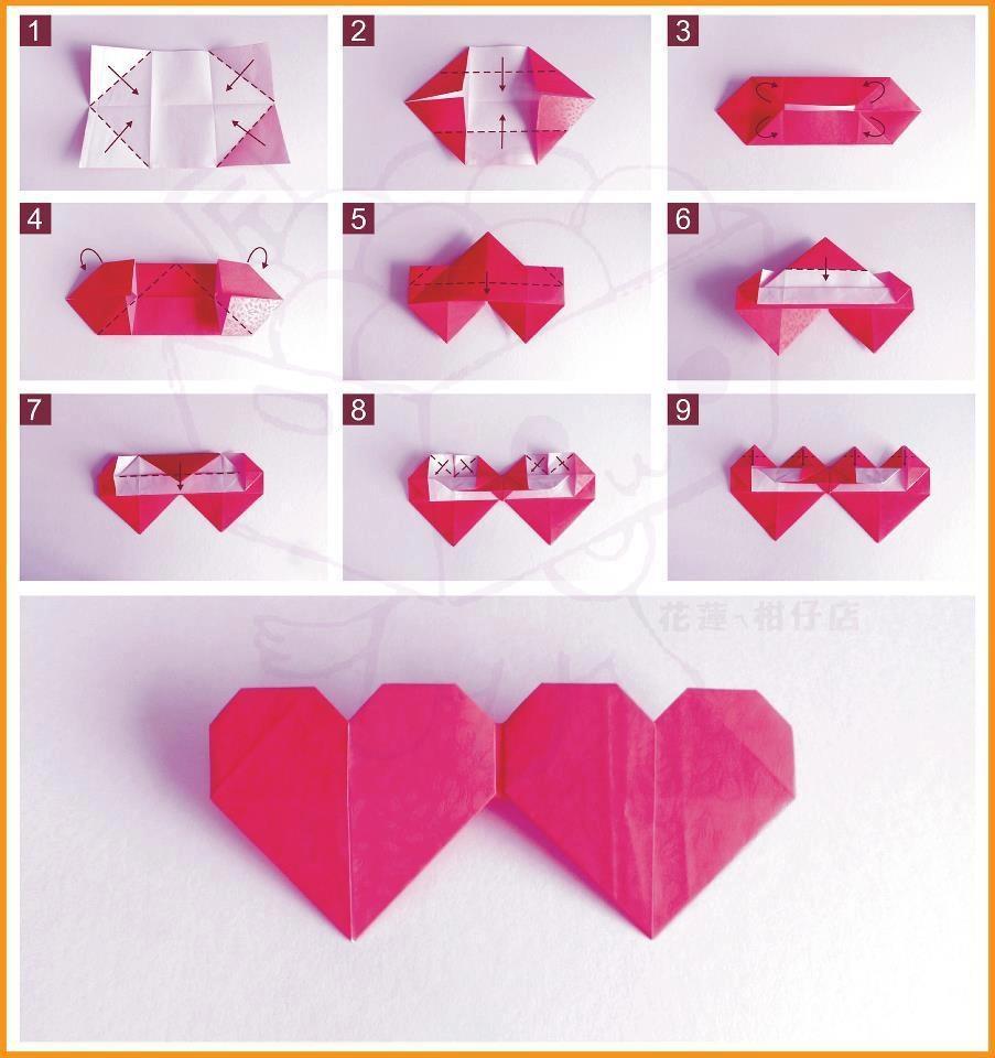 2 Origami Hearts