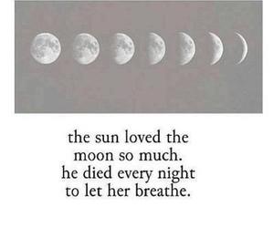 moon, sun, and love image