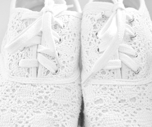shoes, white, and lace image