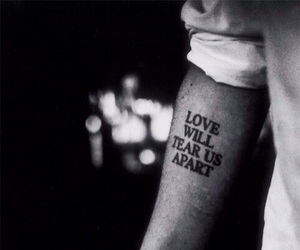 love, tattoo, and black and white image