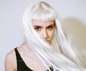 grimes, photography, and white hair image