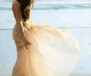 dress, girl, and beach image