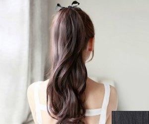 hair, ponytail, and long hair image