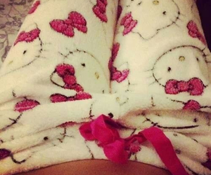hello kitty, pink, and kitty image