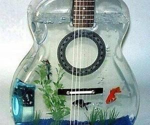 guitar, fish, and music image