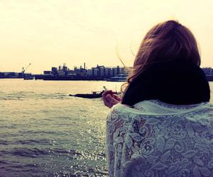 girl harbour summer smoke image