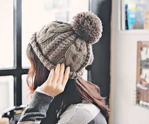 girl, hat, and winter image