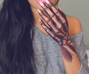 tattoo, hand, and nails image