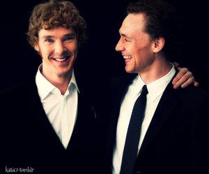 benedict cumberbatch, tom hiddleston, and actor image