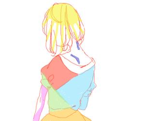 anime, monochrome, and anime girl image