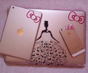decals, HelloKitty, and iphone5s image