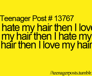 hair and teenager post image