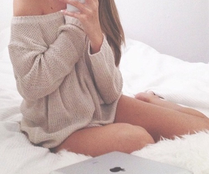 apple, cosy, and fashion image
