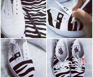 vans, diy, and shoes image