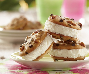 Cookies, cream, and food image