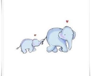 elephants, cute, and love image