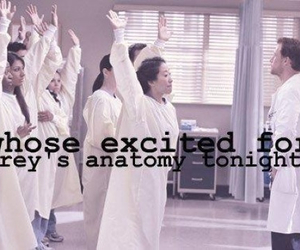 excited, tonight, and grey's anatomy image