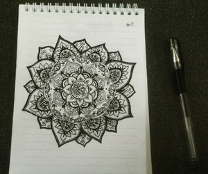 beautiful, boho, and draw image