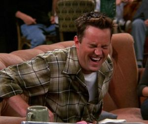 chandler bing, funny, and tv image