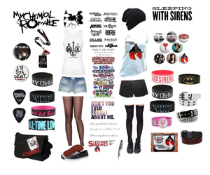 bands, my chemical romance, and outfit image