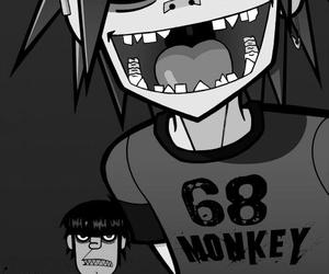 gorillaz, 2d, and music image