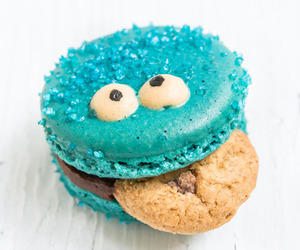food, blue, and Cookies image