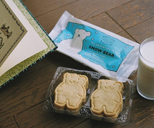 milk, bear, and Cookies image