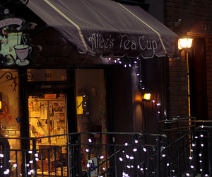 alice in wonderland, cafe, and coffee image