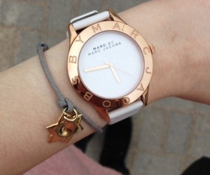 marc, marc jacobs, and white watch image