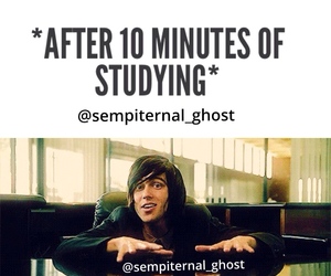 pierce the veil, studying, and vic fuentes image