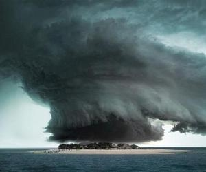 Island, storm, and clouds image