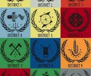 district, the hunger games, and hunger games image