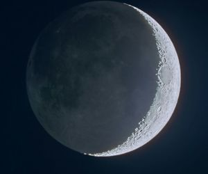 moon, space, and night image