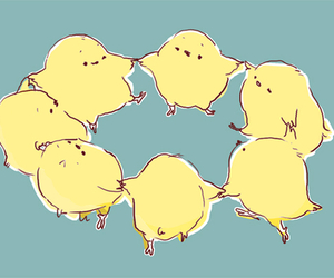 cute, art, and chicks image