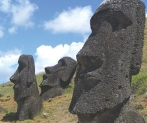 easter island, heads, and huge image