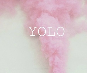yolo, pink, and quote image