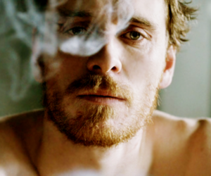 michael fassbender, boy, and smoke image