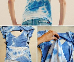 diy, shirt, and blue image