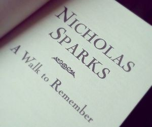 love, book, and nicholas sparks image