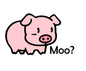 pig, moo, and cute image