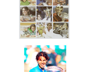 blue, nadal, and text image