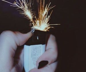 fire, lighter, and grunge image