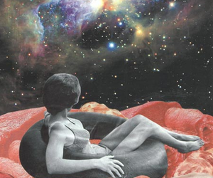 art, space, and galaxy image
